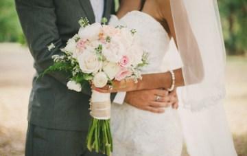 Blush Pink, Mint & Burlap Rustic DIY Wedding