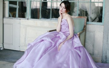 Exclusive Look: The breathtakingly beautiful Sareh Nouri Orchid Wedding Dress