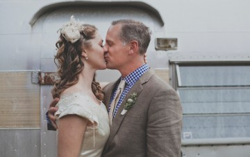 A Relaxed and Romantic Vintage Trailer Park Wedding