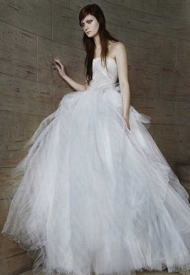 Edgy Glamour: Vera Wang Wedding Dress Collection Spring 2015