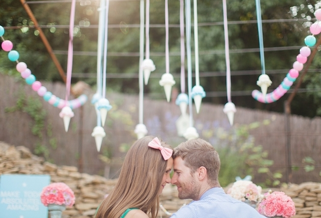 Adorable Engagement Shoot With Super Pretty Dessert Table Inspiration