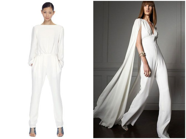 AND THE BRIDE WORE THE TROUSERS… WEDDING DAY JUMPSUITS