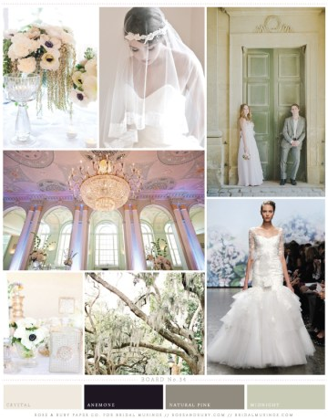 New Mint and Anemone Wedding Inspiration Board | Rose and Ruby Wedding Inspiration | Bridal Musings Wedding Blog 2