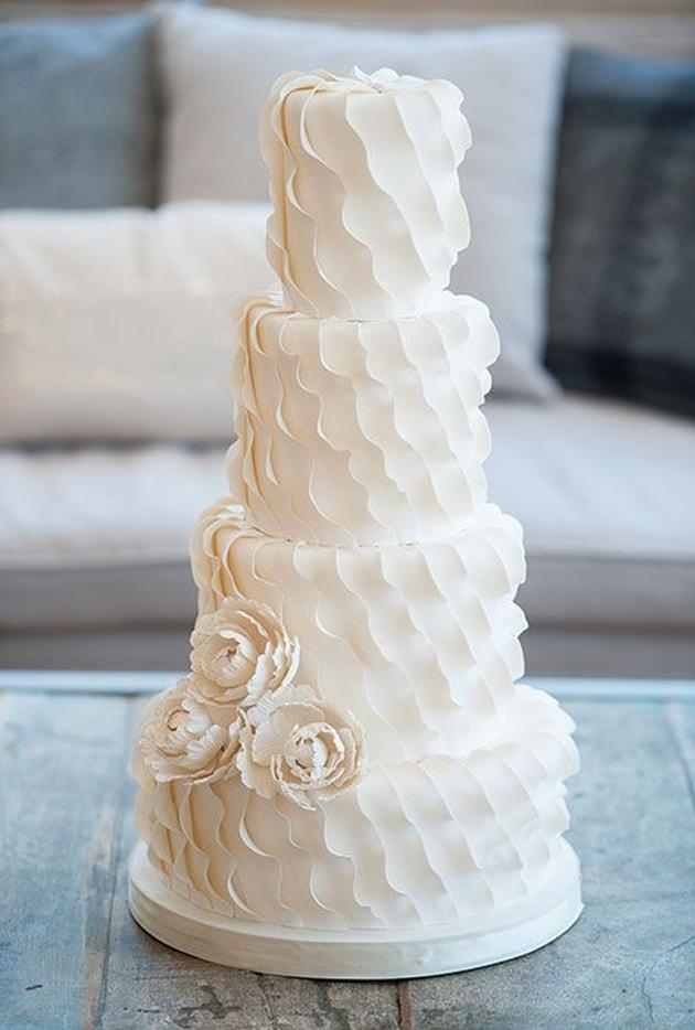 2014 Wedding Cake Trends #6 – Textured Tiers