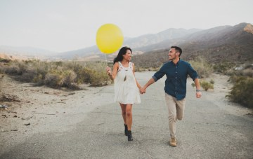 Cool Palm Springs Engagement Shoot
