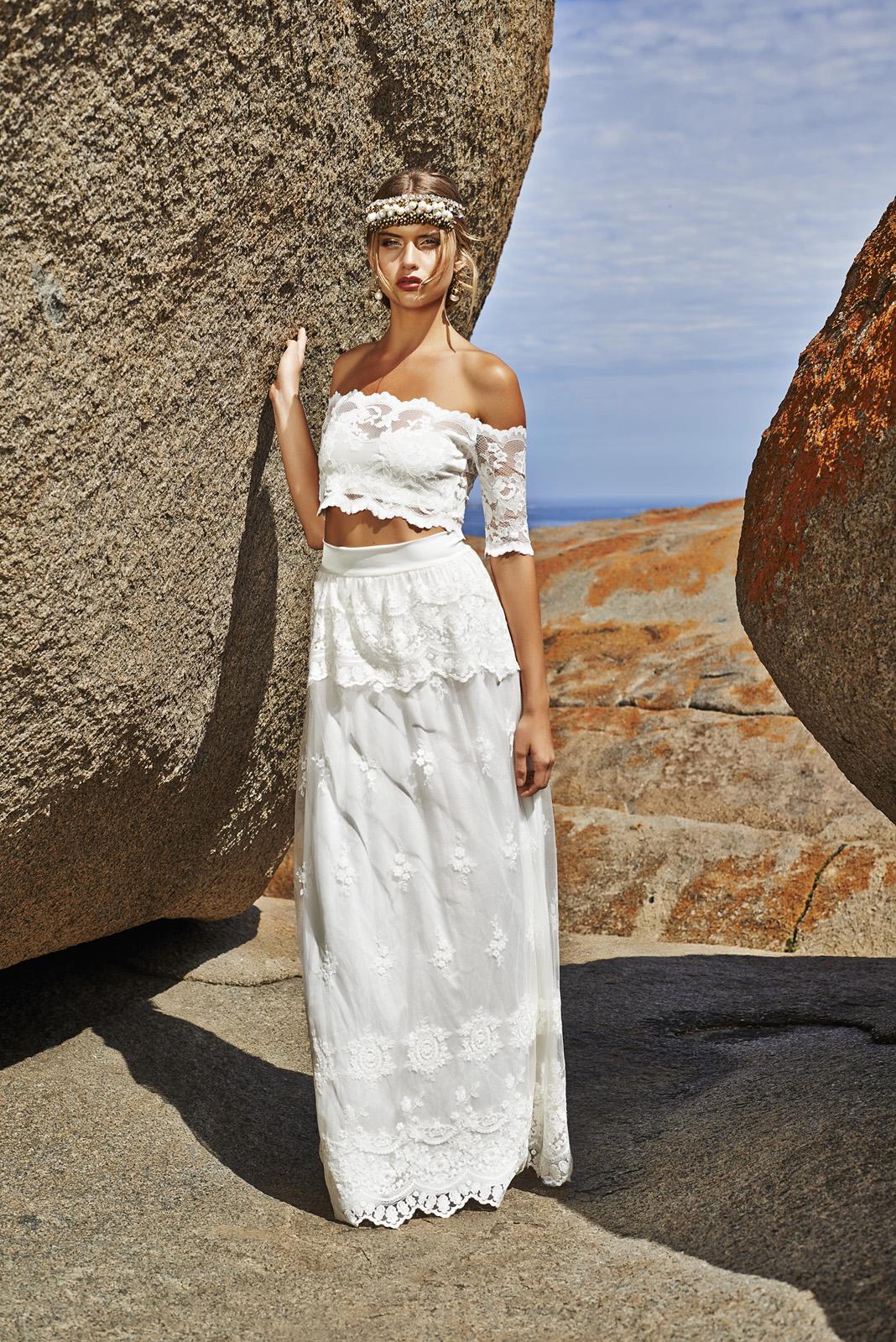 Crop Top Wedding Dress | Bridal Musings 21