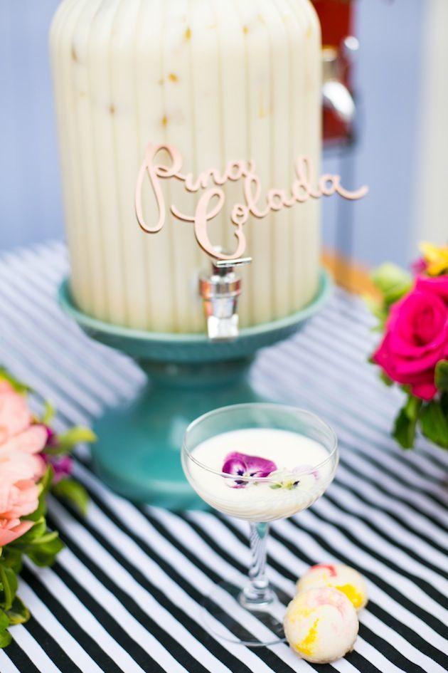 Cute Cocktails | Wedding Ideas | Bridal Musings Wedding Blog 10