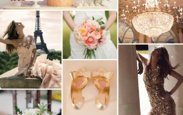 Sumptuous & Sequinned; Peach and Gold Wedding Inspiration Board