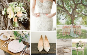 Under the Trees; Fresh Autumnal Wedding Inspiration Board