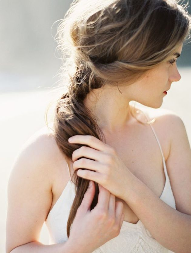 Brides with Pony Tails | Pony Tail Wedding Hair | Bridal Musings Wedding Blog1