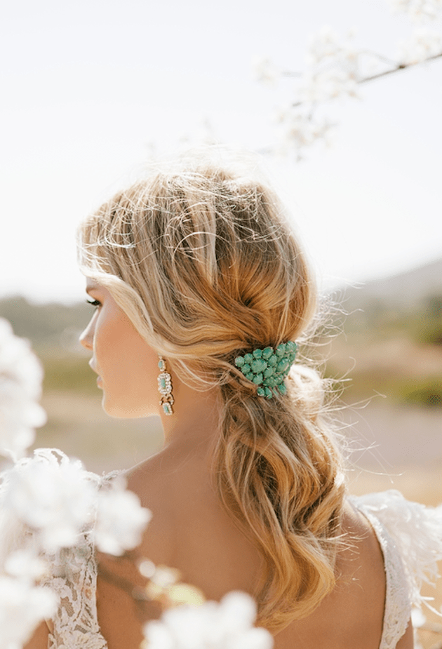 Brides with Pony Tails | Pony Tail Wedding Hair | Bridal Musings Wedding Blog15