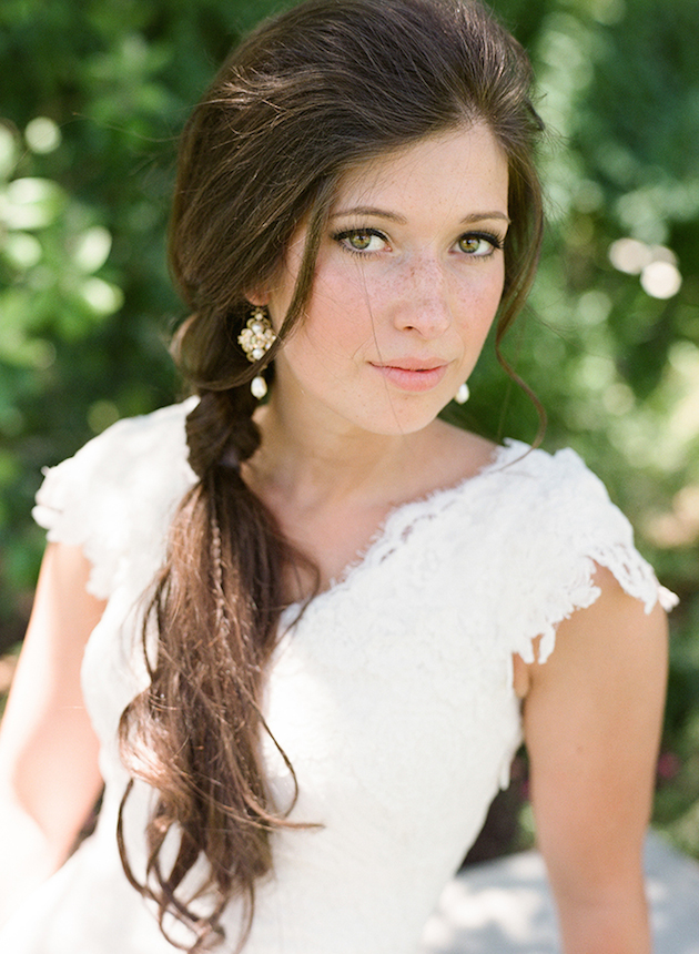 Brides with Pony Tails | Pony Tail Wedding Hair | Bridal Musings Wedding Blog16