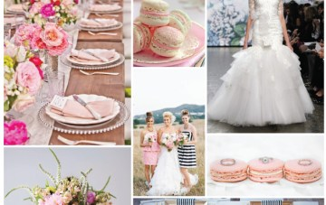 Pink & Cream Macaroons Wedding Inspiration Board