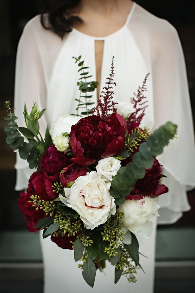 Burgundy Peonies | Bridal Musings Wedding Blog