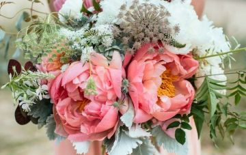 Coral Charm Peonies | Great British Florist Bridal Musings Wedding Blog