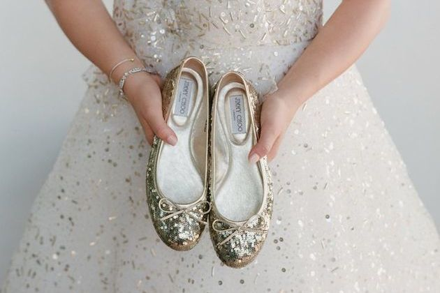 15 Ways To Wear Flat Shoes At Your Wedding