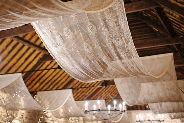 lace canopy wedding decor