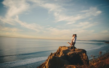 Romantic San Diego Sunset Engagement Shoot