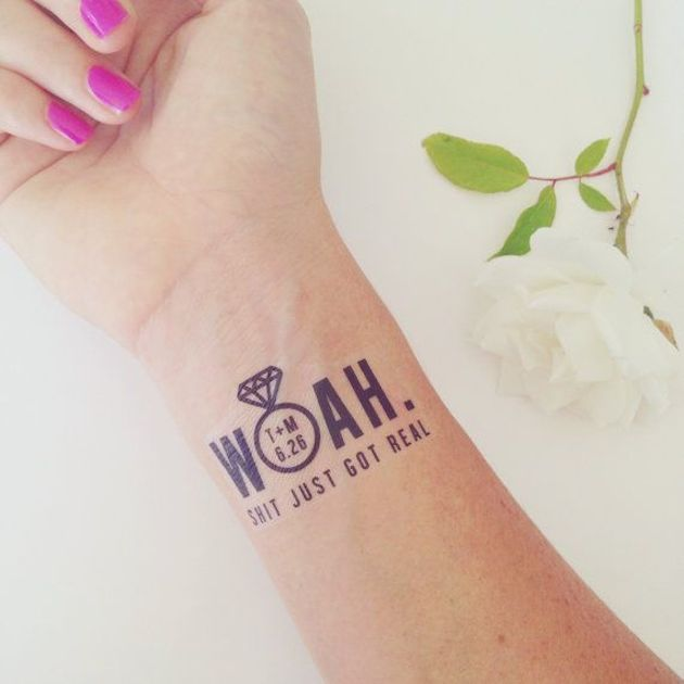 Mini Trend Alert! Temporary Tattoos for your Wedding