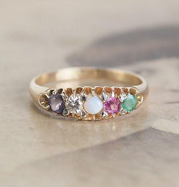Wedding Ring Resize: Trend Alert: Acrostic Engagement Rings