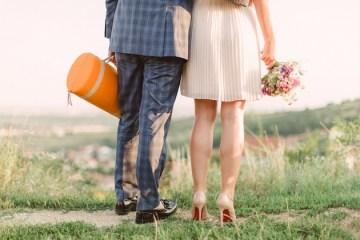 Chic Champagne Picnic Engagement Shoot | Peter and Veronika Photography | Bridal Musings Wedding Blog 32