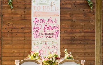 Rustic Glamour; Wedding Calligraphy Inspiration Shoot