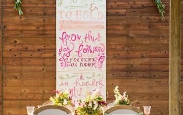 Rustic Glamour; Wedding Calligraphy Inspiration Shoot