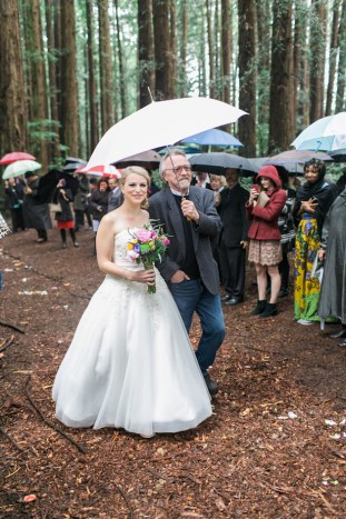 Colourful Redwoods Wedding in the Rain | Caitlin Turner Photography | Bridal Musings Wedding Blog 16