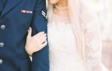 Romantic Military Wedding (Planned in Just 8 Weeks!)