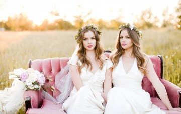 Dreamy Twin Bridal Inspiration