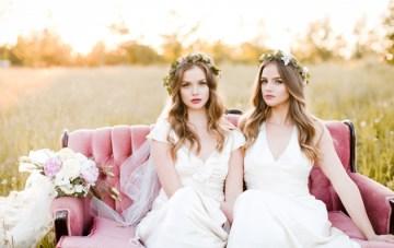 Dreamy Twin Bridal Inspiration