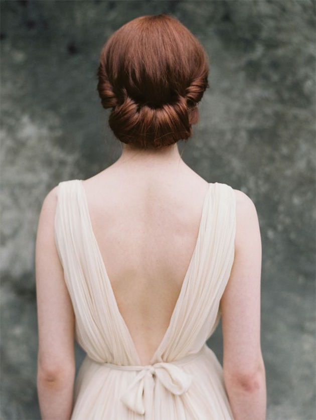 20 Gorgeous Gibson Rolls Tucked Upstyle Wedding Hair