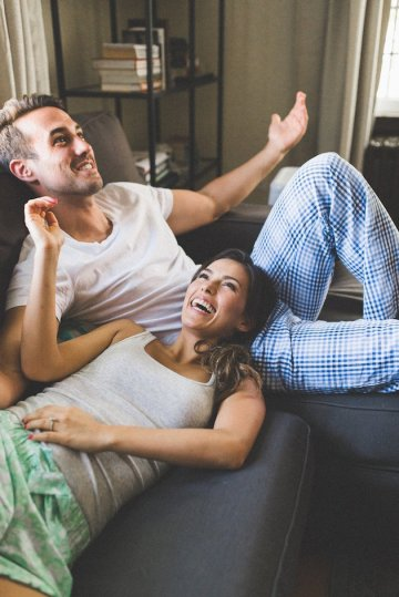 Pillow Fight Engagement Shoot | Olive Photography | Bridal Musings Wedding Blog 12
