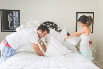 Pillow Fight Engagement Shoot | Olive Photography | Bridal Musings Wedding Blog 7