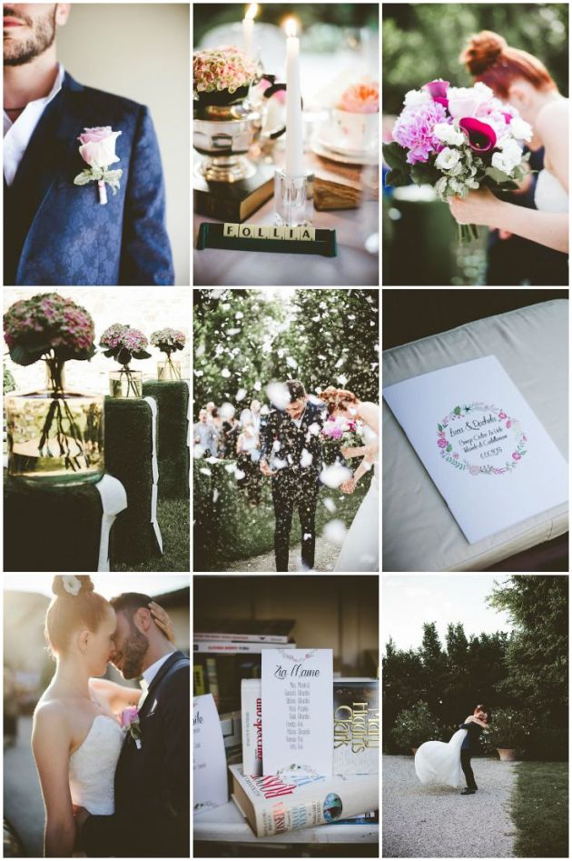 A Quirky Book Themed Italian Wedding