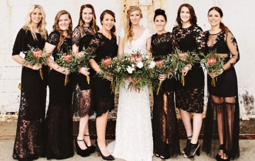 Chic & Classy Little Black Bridesmaids Dresses