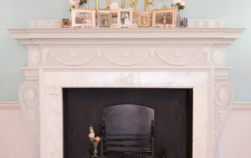 How To Style a Mantelpiece for your Wedding