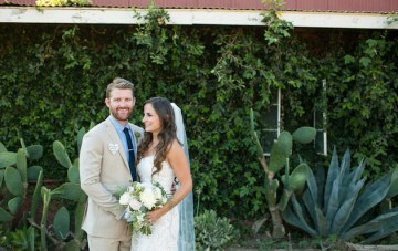 Fun Ranch Wedding with Chic, Elegant Style