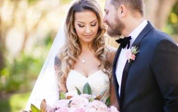 Romantic Pink Wedding with a Touch of Rock 'n' Roll
