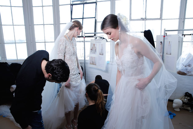 46a54122ab8 Sticking to the sun-drenched venue of Canoe Studios on the Hudson, where we  saw their last collection in October, Marchesa designers, Georgina Chapman  and ...