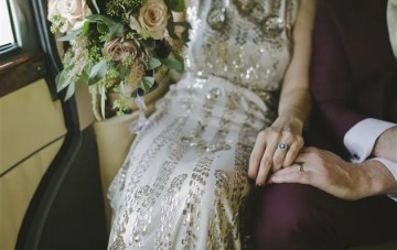 Glamorous Irish Wedding with 1920s Style