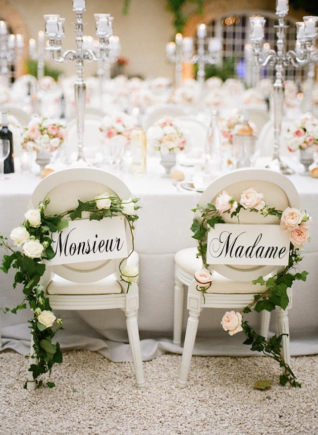 Gorgeous Chair Ideas for Weddings | Bridal Musings Wedding Blog 9 & 32 Gorgeous Chair Ideas for Weddings
