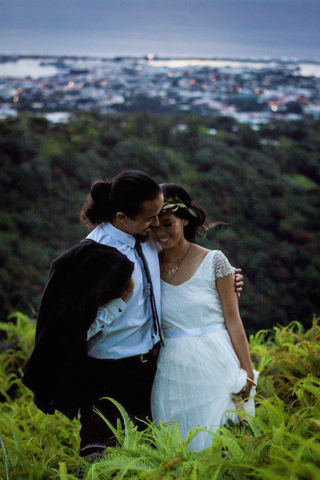 Gorgeous, Romantic, Unique Mountaintop Wedding In Tahiti