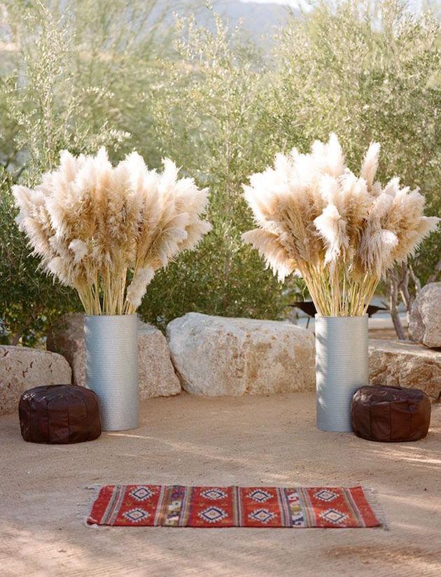 Pampas Grass Vase Decor