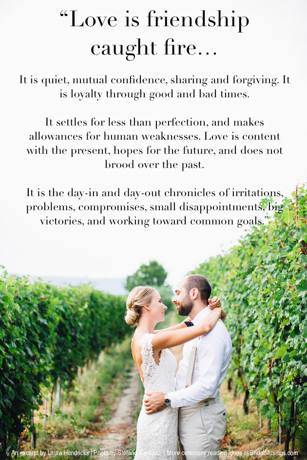 Real Bride Diary: Our Ceremony Readings