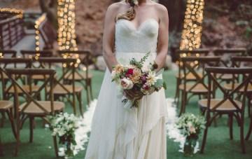 Chic Woodland Wedding Inspiration (With Pretty Lighting Ideas)