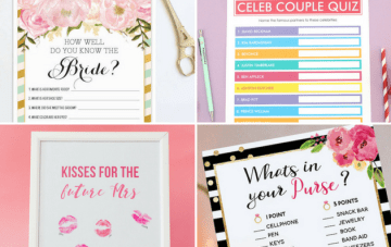 10 Fun Bridal Shower Games & Bachelorette Party Printables