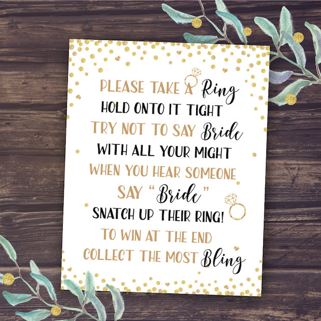 10 bachelorette party and bridal shower games free printables bridal shower activity dont say bride game maxwellsz