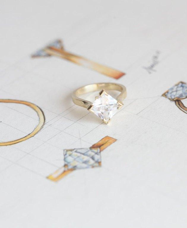 Mossanite Price Ring