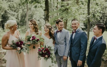 Woodsy Summer Wedding with Calligraphy Decor